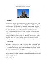 English Worksheet: Erasmus in Barcelona, Spain - a lifechanging experience!
