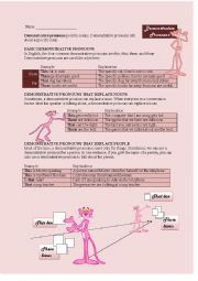 Demonstrative Pronouns: This, That, These, Those with Pink Panther