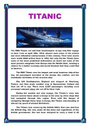 TITANIC ( Reading + Comprehension questions)