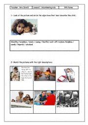 English worksheet: lesson 2 Module 6 Volunteering kids
