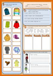 Vocabulary test - clothes