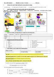 English Worksheet: module 4: Lesson3: Tourism