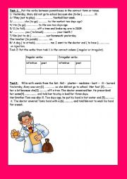 English Worksheet: module 3 section 2 what´s the matter? ( part 2)