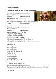English Worksheet: Coldplay