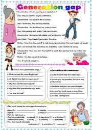 English Worksheet: generation gap