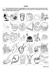 English worksheet: Food Exercises