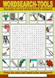 Tools Wordsearch