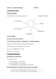 English Worksheet: lesson2 internet shopping