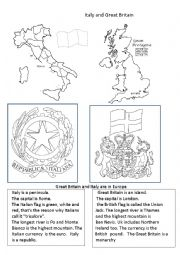 English Worksheet: Italy and UK