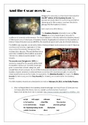 English Worksheet: 85th edition of the Academy Awards