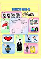 English Worksheet: American Slang-19