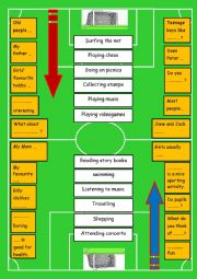English Worksheet: Demonstration lesson:Speaking & Writing through Games & Visuals   8th form (Game N°4 : The Speaking Footballer)  Entertainment