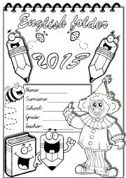 English Worksheet: english folder