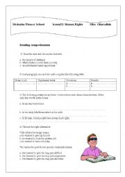 English Worksheet: lesson25, first level: human rights
