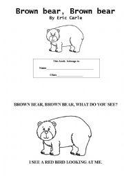 Brown bear, brown bear booklet