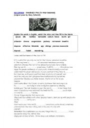 English Worksheet: WEAR SUNSCREEN WORKSHEET WITH KEY