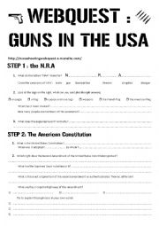 guns webquest worksheet