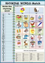 Phonetic: Rhyming words (updated)