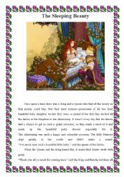 English Exercises: Fairy tale- Sleeping beauty