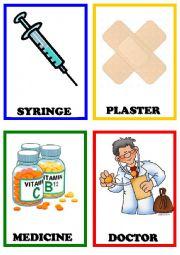 English Worksheet: Illnessess flashcards