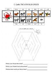 the very busy spider esl worksheet by vanjagucek