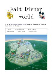 English Worksheet: Walt Disney World Webquest