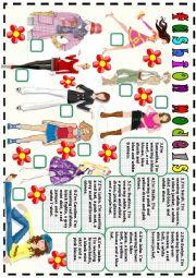 English Worksheet: fashion models
