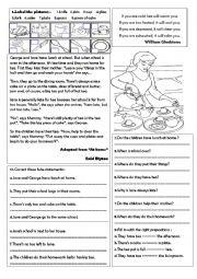 English Worksheet: tea time