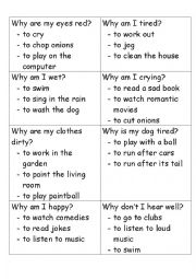 English Worksheet: Guessing Game - Present Perfect Continuous