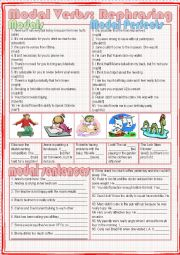English Worksheet: Modal Verbs: Rephrasing