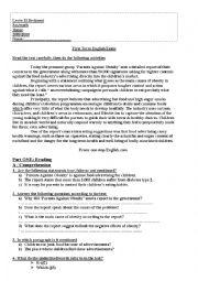 English Worksheet: Child obesity