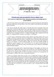 English Worksheet: Exams In Korea