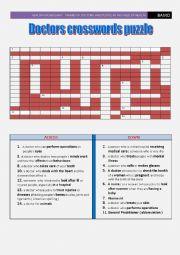 crosswords puzzle: names of doctors