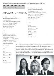 English Worksheet: Nirvana Lithium