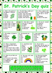 English Worksheet: St. Patrick´s Day