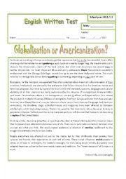 Multiculturalism, globalisation or Americanization?