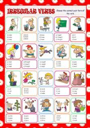 English Worksheet: Irregular Verbs Multiple Choice
