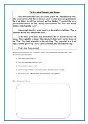 English worksheets: Romulus and Remus