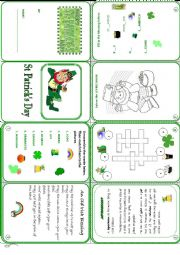 St Patrick´s Day mini book
