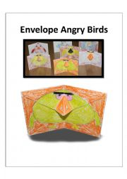 English Worksheet: Envelope Angry Birds + template + worksheet + Instructions