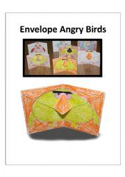 English Worksheet: Envelope Angry Birds + template + worksheet + Instructions