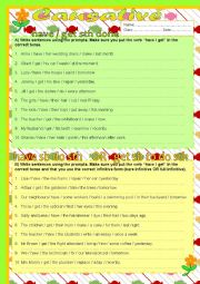 English Worksheet: Causative