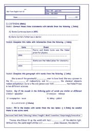 English Worksheet: Mid-term tes tN 2