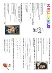 English Worksheet: Song 93 million miles - Jason Mraz