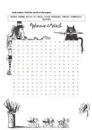 Winnie the witch worksheet