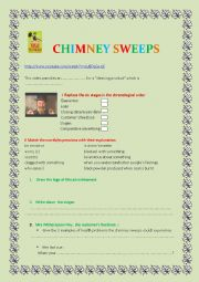 English Worksheet: Child labour in Victorian Times: Chimney Sweeps