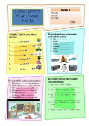 English Worksheet: demonstrative pronouns: this that these those / prepositions of place: on in under next to...