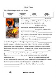 Worksheet Heat Transfer Worksheet english worksheets heat transfer cloze activity worksheet activity