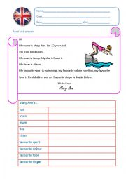 English Worksheet: Introducing...