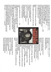 English Worksheet: amish paradise, weird al yankovicmusic gapfill